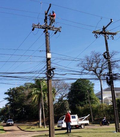 ANDE realizó mantenimiento de redes de distribución eléctrica de Hernandarias