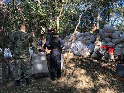 Desmantelan campamentos del narcotráfico en reservas de Amambay