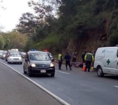 Motociclista brasileño muere en accidente en cerro Caacupé