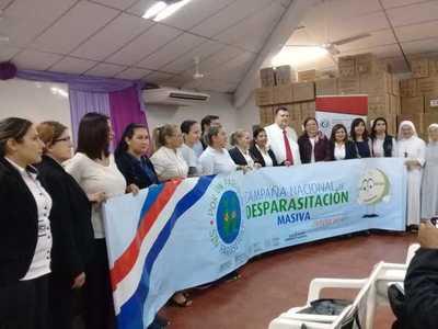Lanzan campaña de desparasitación en escuelas