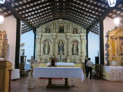 SNC restaura escultura de San Agustín del templo de Emboscada