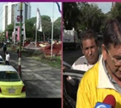Taxistas levantan protesta, tras acuerdo con Municipalidad de Asunción