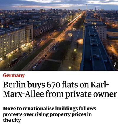 En Alemania el Estado interviene fuertemente para que los alquileres no suban