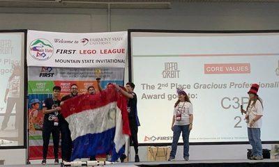 Jóvenes de Ciudad del Este ganan premio en competencia de robótica en West Virginia, EEUU
