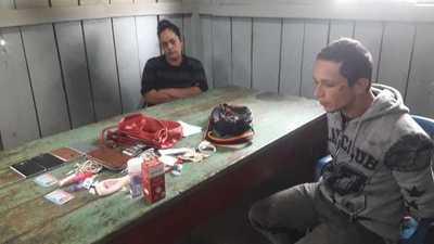 Atrapan a pareja que asaltó una farmacia en el barrio Don Bosco