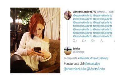 """Funcionaria pública, víctima de """"pyrawebs"""": La mandaron al """"freezer"""" por escribir #DesastreKoMarito"""