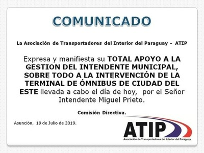 Transportadores respaldan actuar de Prieto