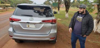 Incautan camioneta robada en Brasil con chapa del diputado Arnaldo Rojas