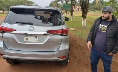 Diputado denunció hurto de chapas tras hallazgo de camioneta robada