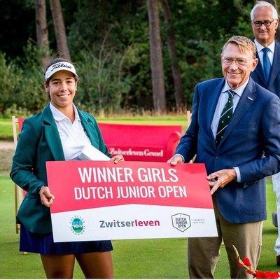 Sofía García es campeona del Dutch Junior Open