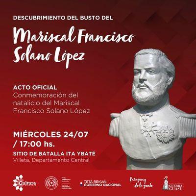 Se hará acto conmemorativo del natalicio del Mariscal López en Ita Ybaté