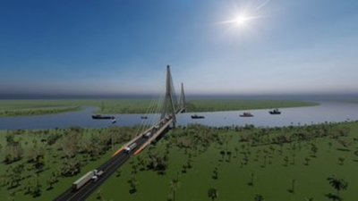 Nuevo puente internacional con Brasil dará mayor dinamismo en economía local, afirma Gobernador
