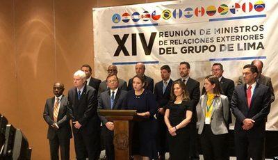 Grupo de Lima se reúne el martes en Argentina para seguir presionando a Maduro