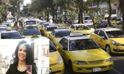 Navila Ibarra en defensa de los taxitas