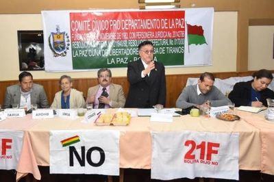 Anuncian huelga nacional contra la candidatura de Evo Morales