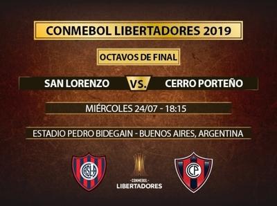 En duelo de azulgranas, San Lorenzo recibe a Cerro Porteño en el Nuevo Gasómetro
