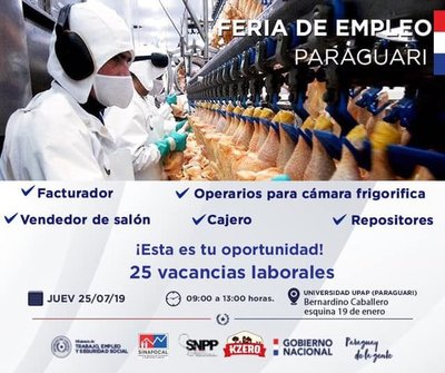 Organizan feria de trabajo en sede UPAP de Paraguarí