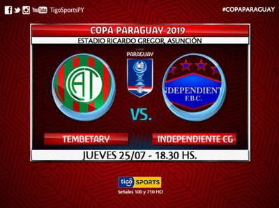 Tembetary e Independiente chocan en duelo parejo