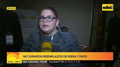 No juraron reemplazos de Riera y Payo: Antonio Barrios