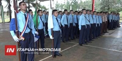 JÓVENES DE ESCUELAS AGRÍCOLAS DE ITAPÚA EGRESAN DEL SERVICIO MILITAR.