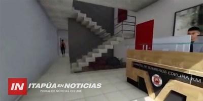 BOMBEROS DE EDELIRA KM 21 DAN A CONOCER EL PROYECTO DE LO QUE SERÁ SU CUARTEL PROPIO