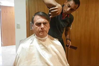 Bolsonaro plantó a canciller francés para cortarse el cabello