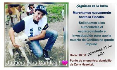 Marcharan para pedir a la fiscalía agilice investigación de asesinato de Carlos Ortiz