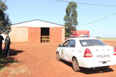 Bandidos roban agroquímicos y otros objetos tras asalto de establecimiento rural en Minga Guazú