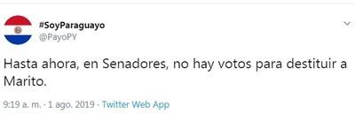 Payo afirma que no hay votos para destituir a Abdo