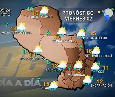 Lluvias para hoy y pronóstico de escarchas para el fin de semana