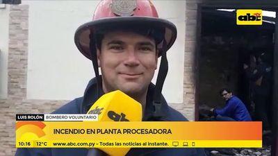 Coronel Oviedo: Incendio en planta procesadora