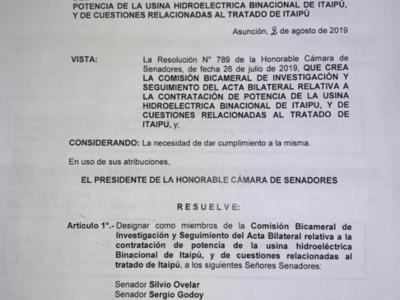 Acta bilateral: Confirman a senadores que integrarán bicameral de investigación