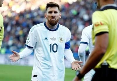 Conmebol castigó a Messi con tres meses de suspensión