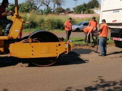 Avanzan trabajos de reparación de calles y avenidas en Ciudad del Este