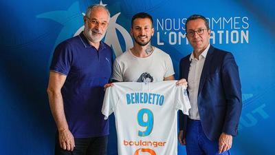 Darío Benedetto es presentado en el Olympique Marsella