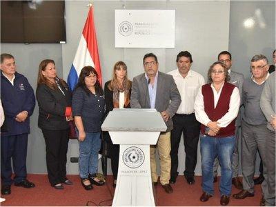 Centrales obreras se reúnen con Mario Abdo y abogan por estabilidad política