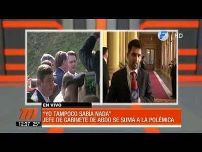 Crisis Itaipú: Jefe de Gabinete de Abdo se suma a la polémica