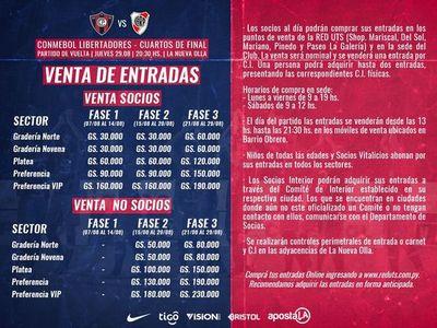 Fase por Fase, los tickets de la Copa