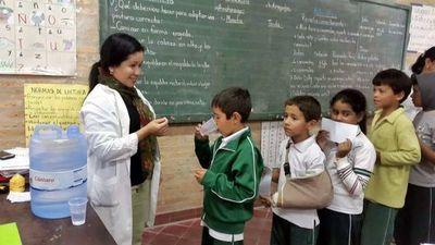 Dieron inicio a la Campaña de Desparisitación en escuelas de Misiones