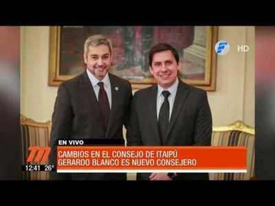 El primer cambio de Mario Abdo entre consejeros de Itaipú