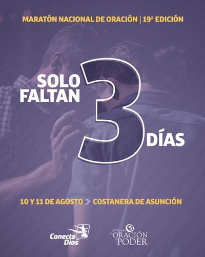 Maratón de Oración: En 3 días más las familias orarán por Paraguay
