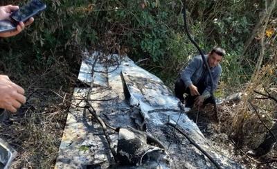 HOY / Tras alerta por caída de una  avioneta la hallan incinerada:  creen que narcos la usaban