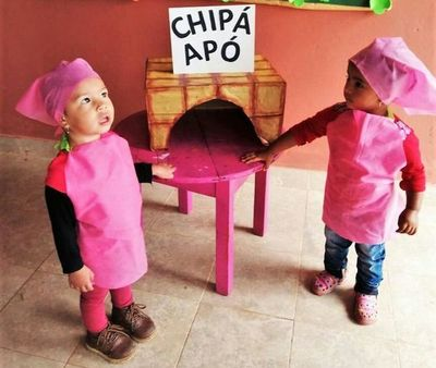 Chipa solidaria por la infancia