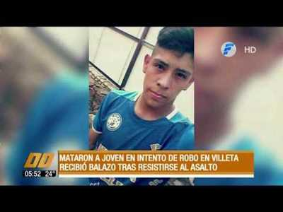 Matan a un joven de 21 años, tras resistirse a asalto