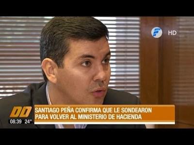 Santiago Peña confirma que fue sondeado para volver al Ministerio de Hacienda
