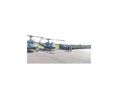 Donan  2 helicópteros y vehículos tácticos