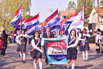 Escuela Jorge A. Gadea festejó con desfile sus 40 años de vida institucional
