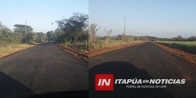 OBRAS DE MEJORA VIAL LLEGAN A LA COMPAÑÍA SAN VICENTE EN SAN PEDRO DEL PARANÁ