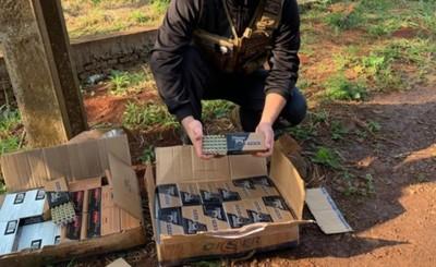 Requisan 80 cajas de municiones que iban en colectivo
