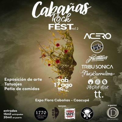 Organizan segunda edición del Cabañas Rock Fest